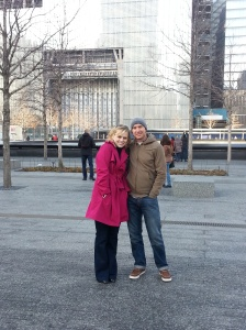 At the WTC Memorial.  R&R after first trip to Ethiopia.